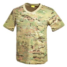 Military camouflage combat multicam t shirts