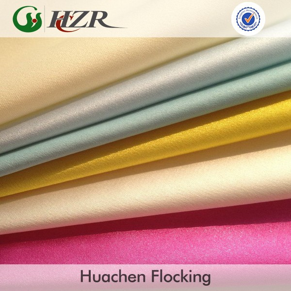 In-stock Polyester satin back coated swatch fabric for curtain