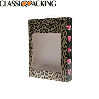 Fashion paper table paper and PVC showcase glasses box printing display