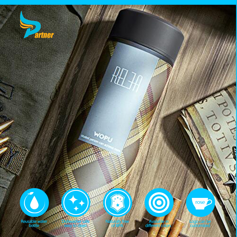 Stainless steel protein joyshaker shaker cup wash metal water bottle