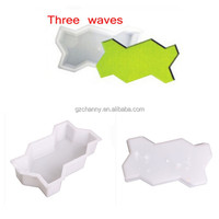 Three Waves Shape Garden Path Concrete Plastic Brick Mold Paving Pavement Walkway Cement Brick Molds For Home Supplies