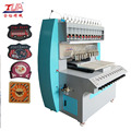 12 color dispenser machine making pvc rubber label for clothing