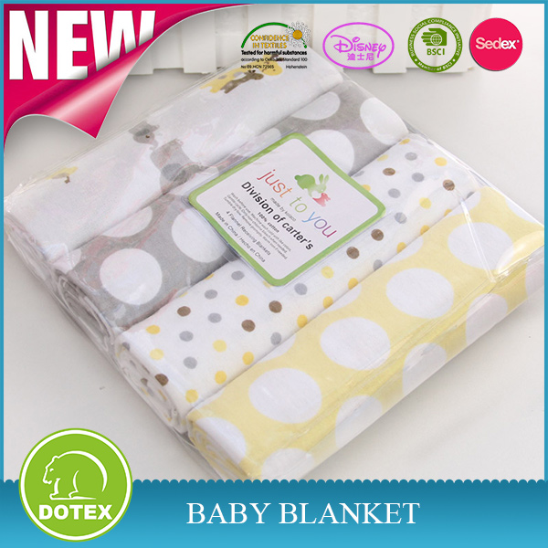 BSCI SEDEX Aduited Factory White Cotton Baby Blankets Wholesale Woven Indian Cotton Throw Blankets Custom Print Muslin Blanket