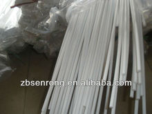 Small Diameter Straight PTFE Rod , Insulator Square Rod,Ptfe plastic rod