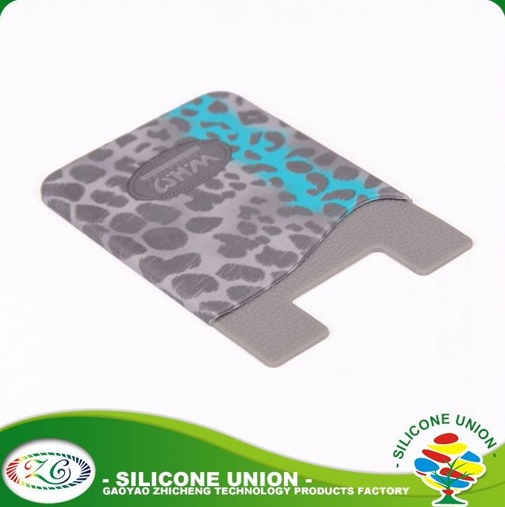 Wholesale advertising custom logo universal silicone phone case silicone card holder wallet