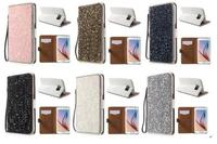 Bling Rhinestone Leather Case for Samsung Galaxy S6 G920 with Stand Card Slots