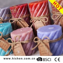 Cotton Wick Making High Quality Pillar Shape 100% Paraffin Wax Candle