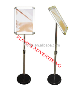 floor display stand aluminum poster sign holder stand in A2/A3/A4 size