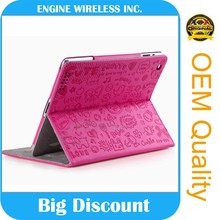 Custom OEM Flip PU Leather Tablet Cover for ipad mini 2 case,for ipad mini cover