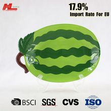Watermelon design ceramic fruit plate