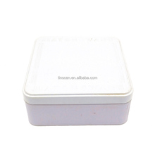 Square food package metal tin box