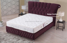 New arrival king size velvet bed design furniture in karachi