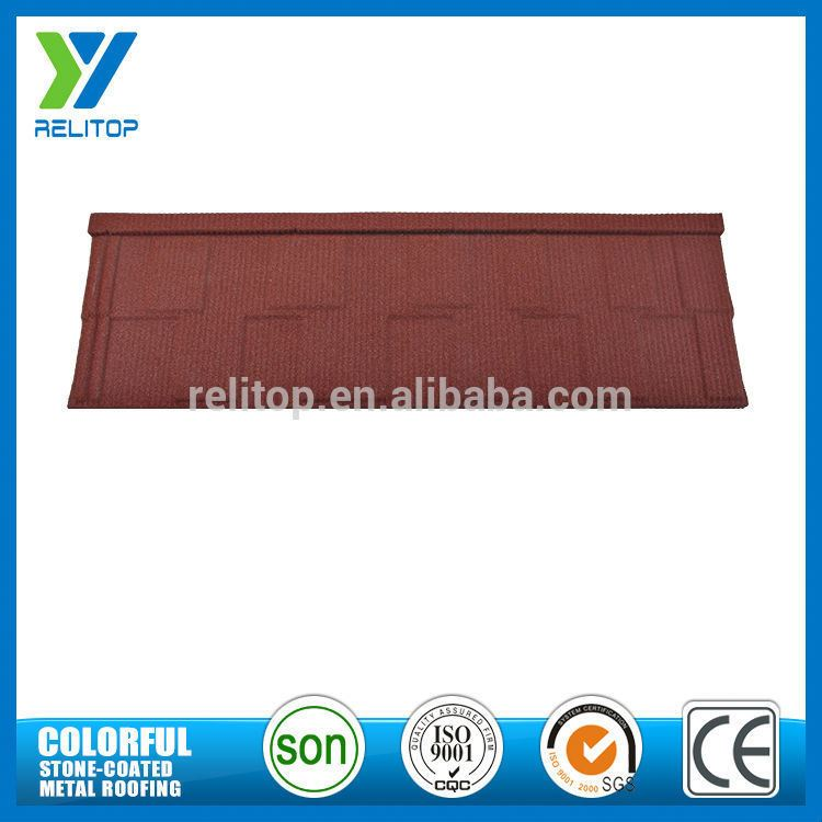 Al-Zinc Stone Chip Coated Roof Decoration For Townhouse