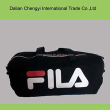 Manufacturer black cotton travel sport duffel bag with customize logo