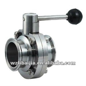 Stainless Steel Butterfly Valve Ball Handle Clamp End Manul Butterfly Valve