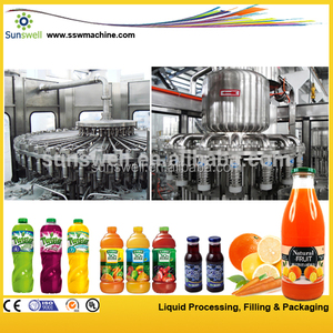 Automatic glass bottled orange Filling Machine/ processing plant