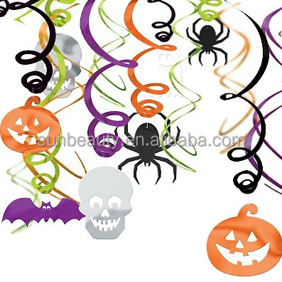 Wholesales Hanging Swirl paper Decoration for Hallowen