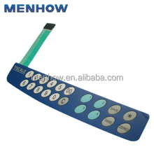 China manufacturing flexible cable custom made tactile silicone membrane keyboard