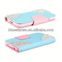 2014 New Arrival Fashion for samsung s4 i9500 bling leather for samsung case