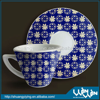 porcelain tea cup in color design wwc13087