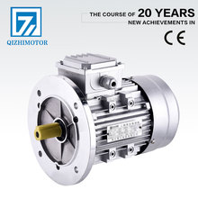 Flange type 3 phase 0.75Kw electric ac induction motor with aluminum sheet