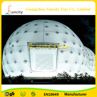 0.6mm PVC Tarpaulin Outdoor Inflatable Igloo Tent/Inflatable Dome Tent With Led Light