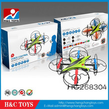 Hot!New 8 inch 2.4G voice control 4-axis ufo aircraft quadcopter flying saucer HC268304