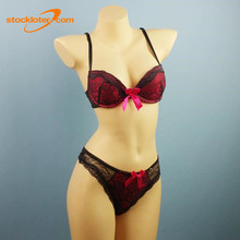 Stock Ladies Lingerie Bras And Panties Brief Panty Match Sets