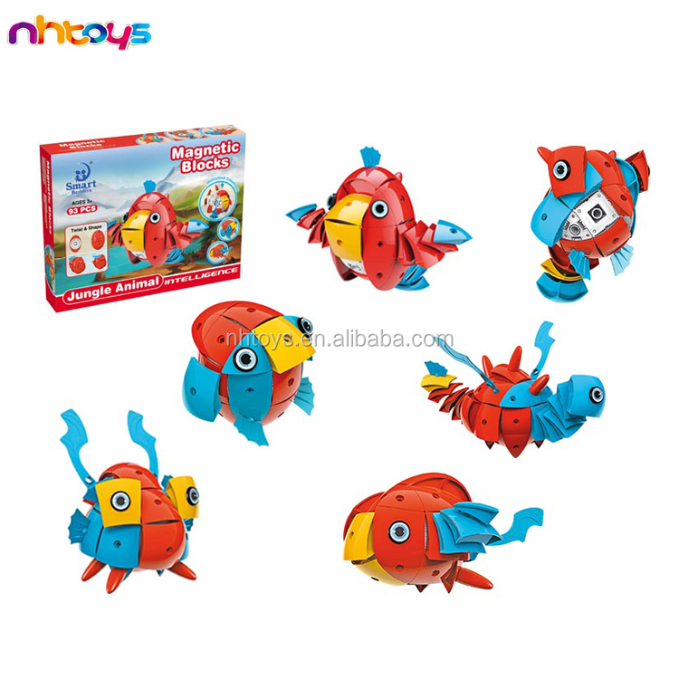 China supplier intelligent toy bird block 93 pcs magnetic egg toy with high quality