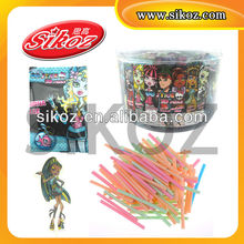 CC stick candy with 3D cartoon puzzle for children SK-C084