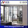 Wooden grain color New design China famous brand aluminium profile sliding door