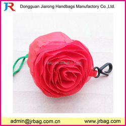 Special cheap rose foldable shopping bag for housewife shopper