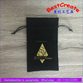 Gold stamping velvet jewelry gift wrap drawstring pouch bag