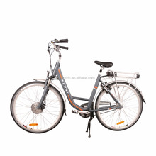 CE certificate 700c 28inch 250w 350W 500w optional high speed rear rack battery city e bike electric lady bicycle