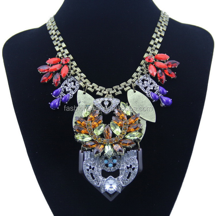 Fashion Vintage Big Pendants Choker Statement Necklace for Women