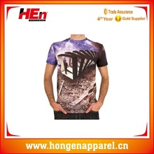 Hongen apparel 2016 New Screen Sublimation Printing Cotton Sports T Shirt Wholesale From China