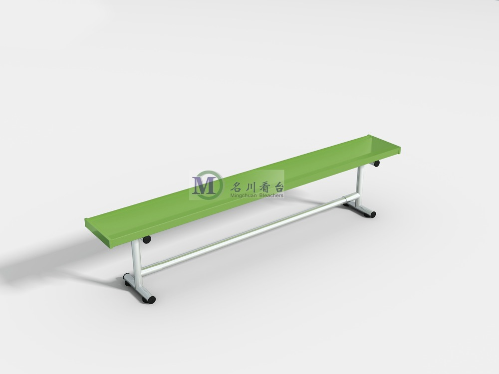 MC-1F Single aluminum bench for garden rest bleachers bench seat