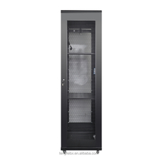 OEM 600x600 glass front door rack floor standing rack/network cabinet