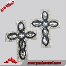 Bling Crystal Diomand Studded Trim Rhinestone Cross Mesh for Garment Accessories and Bags
