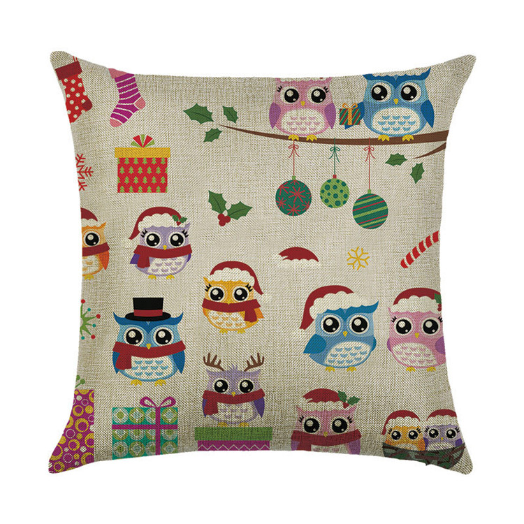 Various Designs Living Room Sofa Cushion Cover Christmas Decorative Throw Pillow Cover