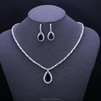 promotional items organizer silver zircon jewelry sets big jewelry set for wedding