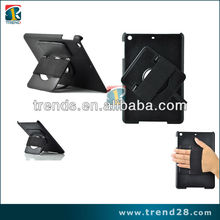 360 degree rotating stand belt leather case for ipad mini