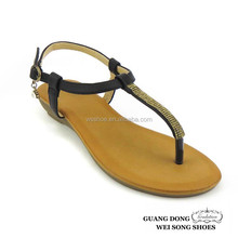 small wedge heel thong slingback 2014 new flat china cheap women sandal shoe