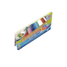 Rectangular Fashion metal water color pencil tin box/tin can/tin container with hinged lid