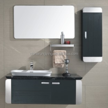 Ceramic basin stainless steel bathroom cabinet with mirror