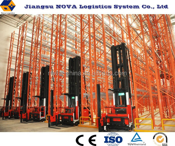 VNA narrow aisle adjustable pallet racking system with CE & ISO