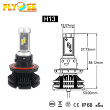 DC12V 50W 6000LM X3 Z ES Car LED Head light Bulbs 8000K H4 H13 9004 9007 LED Headlight