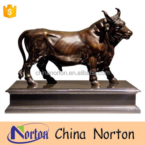 Garden decor life size animal bronze bull sculpture for sale NT-BSB015