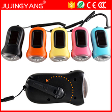 HOT quality Energy Saving hand crank solar flashlight LED