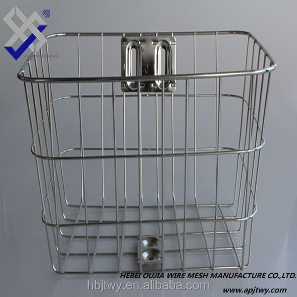 stainless steel front bicycle basket